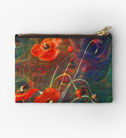 Poppies Zipper Pouch