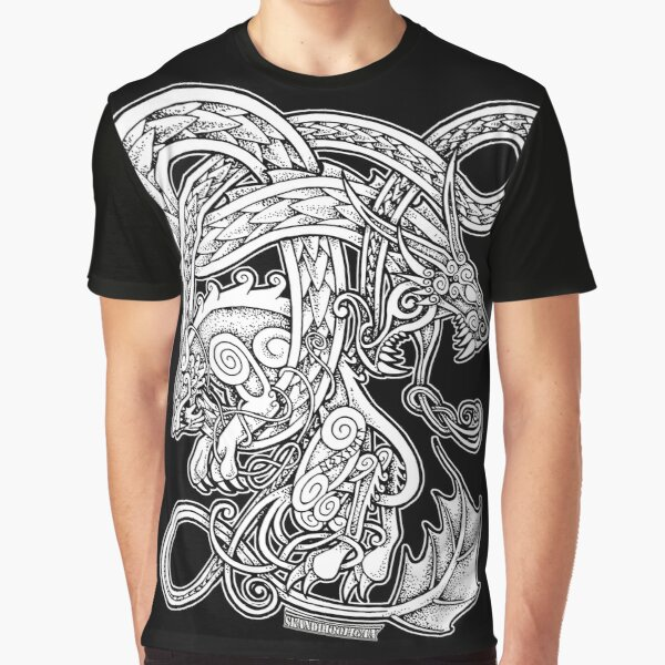 Fenrir och Jörmungand Graphic T-Shirt