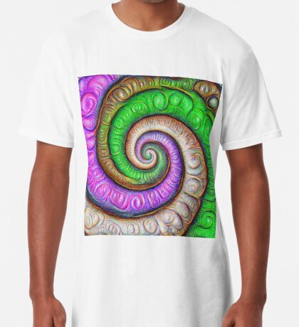 Fibonacci spiral #DeepDream #Art Long T-Shirt