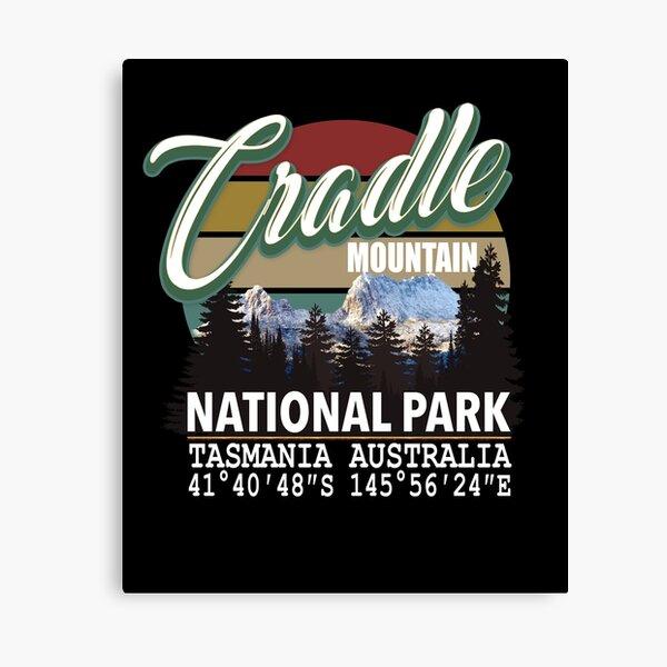Cradle Mountain National Park with GPS Location Tasmania Australia Canvas Print