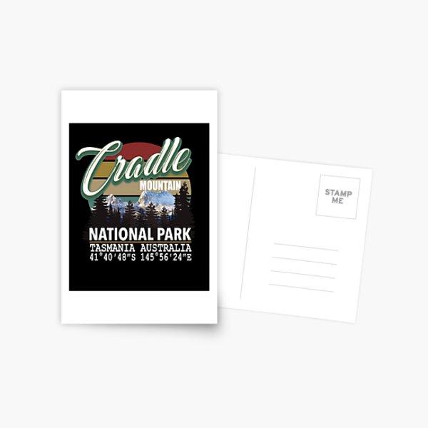 Cradle Mountain National Park with GPS Location Tasmania Australia Postcard