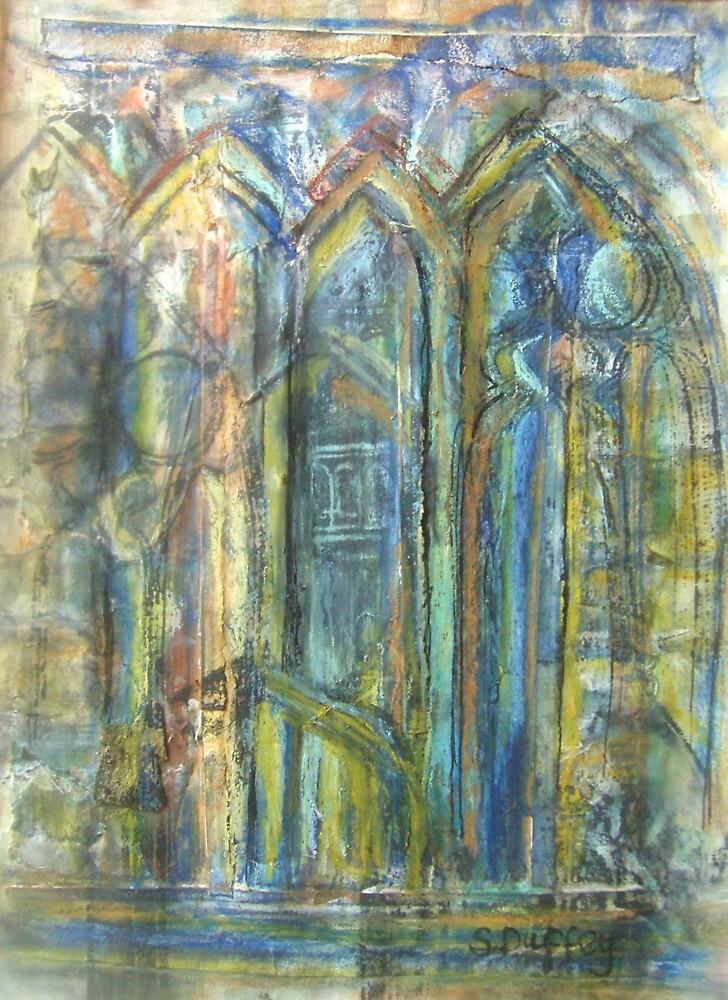 Skipton Castle Windows 1 by Susan Duffey
