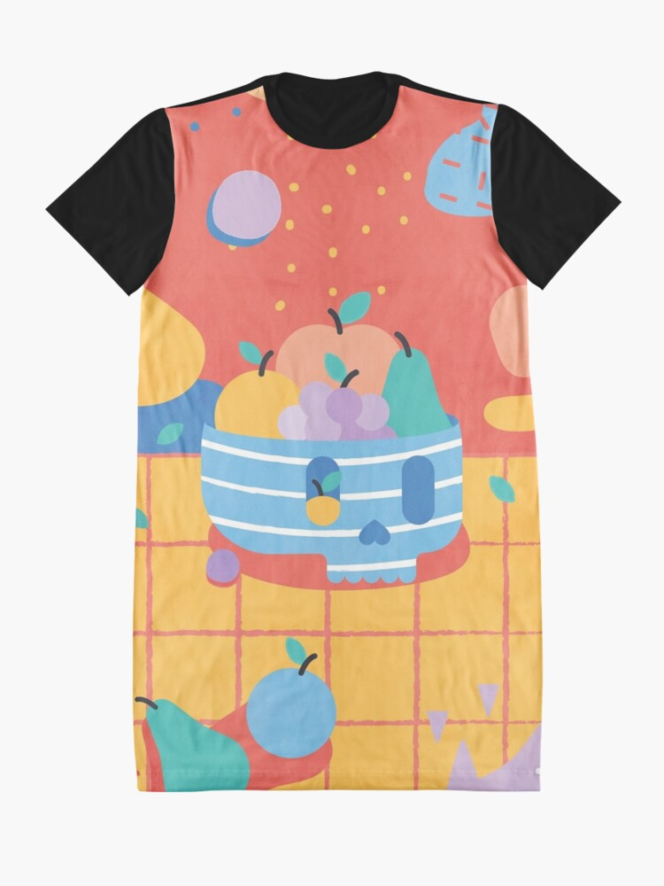 Alternate view of Skull Fruit Bowl Graphic T-Shirt Dress