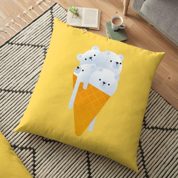 Polar Bear Ice Cream Floor Pillow