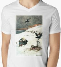 THEY PASSED OVER THE BOUNDLESS WHITE PLAIN WHERE AN AGED SAINT WITH FLOWING BEARD STOOD from the story THE STORY OF KASYAN AND THE DREAM MAIDEN V-Neck T-Shirt
