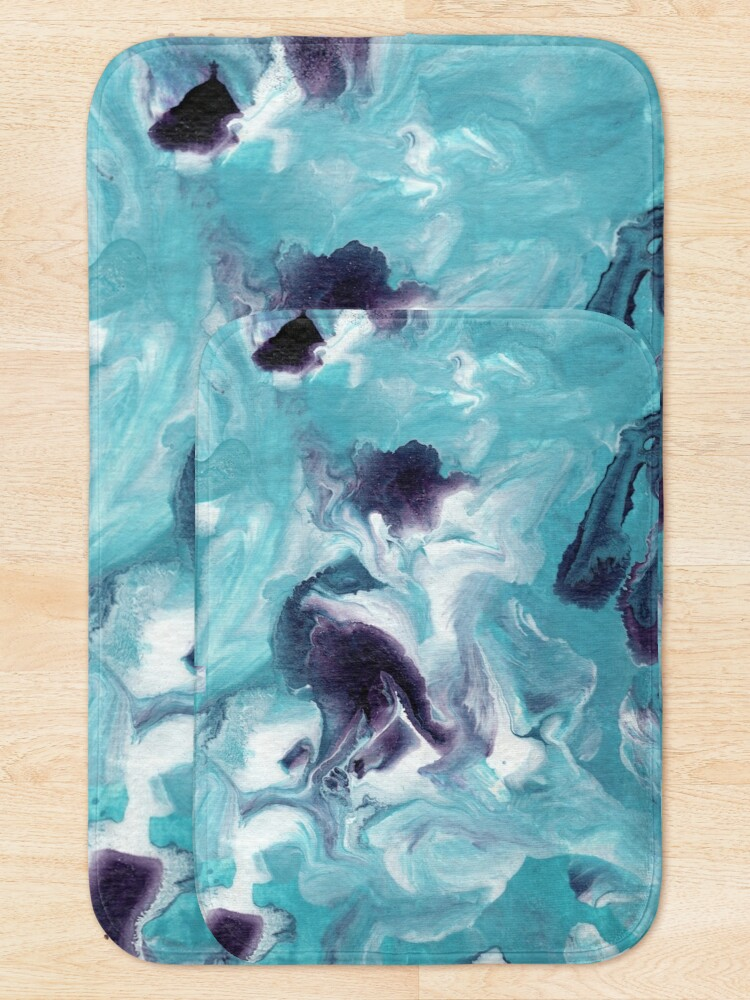 Alternate view of Fluid Painting Sea Activity III Bath Mat