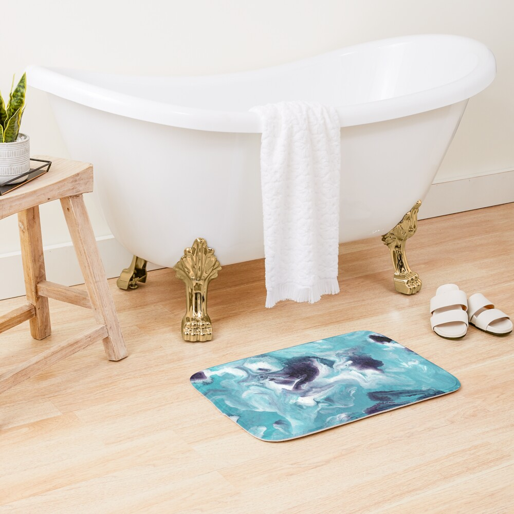 Fluid Painting Sea Activity III Bath Mat
