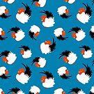 Hahn Schüssel Muster von owliedesign