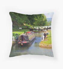 Narrow Boat,  Throw Pillow