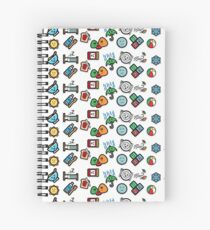 Cute Daily Stickers Spiral Notebook