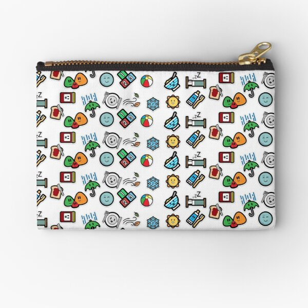 Cute Daily Stickers Zipper Pouch