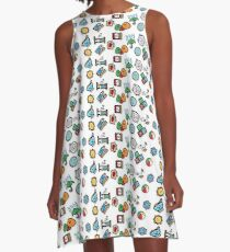 Cute Daily Stickers A-Line Dress