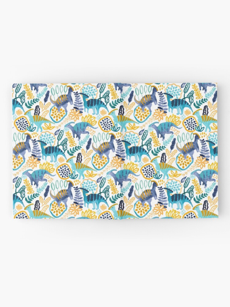 Alternate view of Gouache Parasaurolophuses  Hardcover Journal