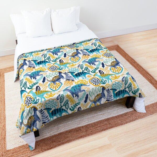 Gouache Parasaurolophuses  Comforter