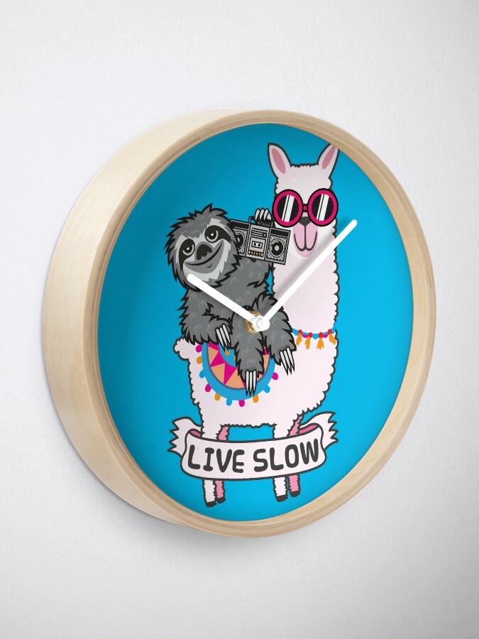 Alternate view of Sloth llama Clock