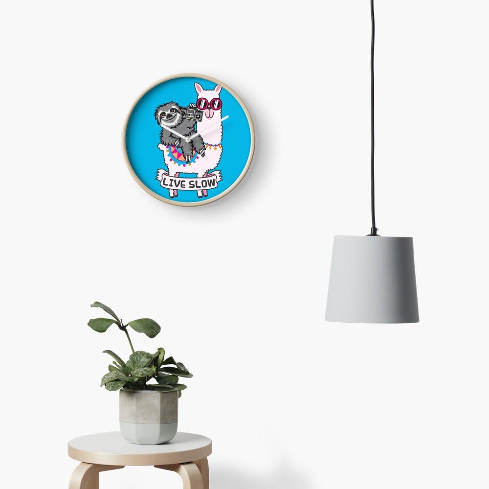 Sloth llama Clock