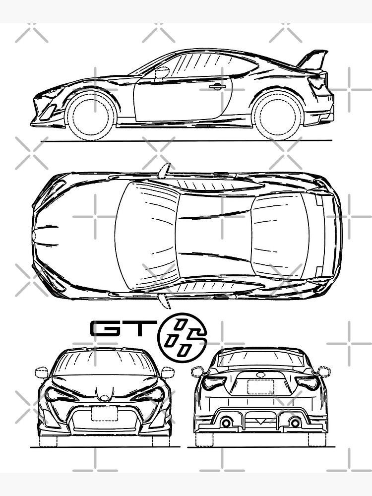 GT86 Blueprint by rogue-design