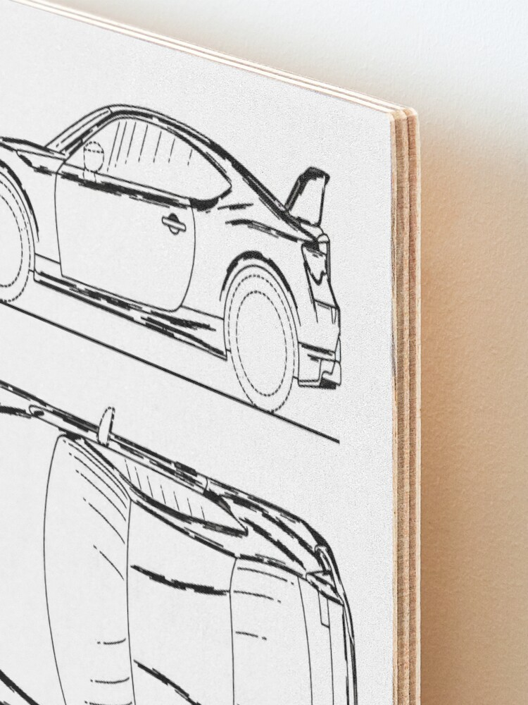 Alternate view of GT86 Blueprint Mounted Print