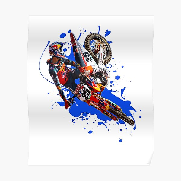 Marvin Musquin MM25 Motocross and Supercross Champion #25 Gift Design Poster