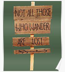 Póster No todos los que vagan se pierden la pasión por los viajes
