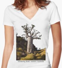 Kimberley Boab Tree Women's Fitted V-Neck T-Shirt