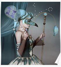 Póster Signo astrológico de piscis
