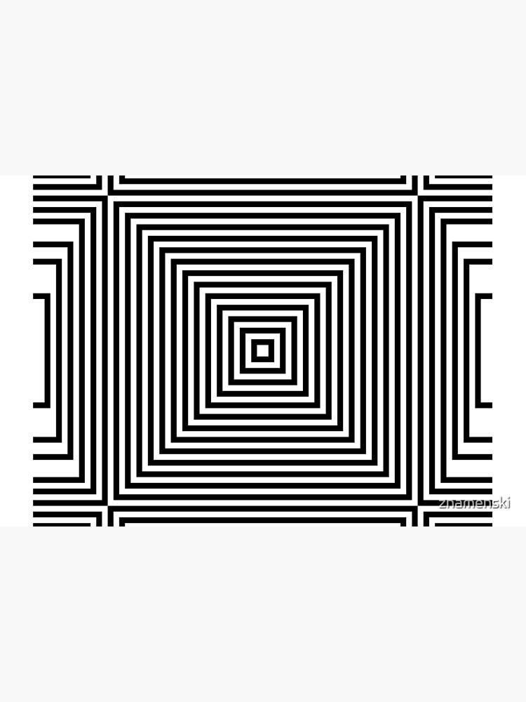 #Illustration, #design, #simplicity, #pattern, art, bamboo, square, abstract, black and white, monochrome, maze, geometric shape by znamenski