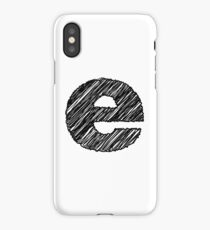 Sketchy Letter Series - Letter E (lowercase) iPhone Case/Skin