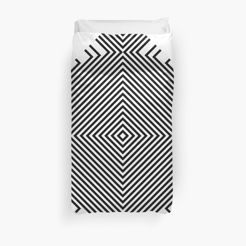 #Psychedelic #Hypnotic #Pattern, Visual #Illusion, Optical Art  Duvet Cover