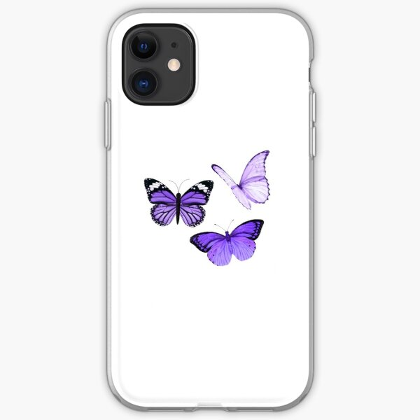 Purple Butterflies  iPhone Soft Case