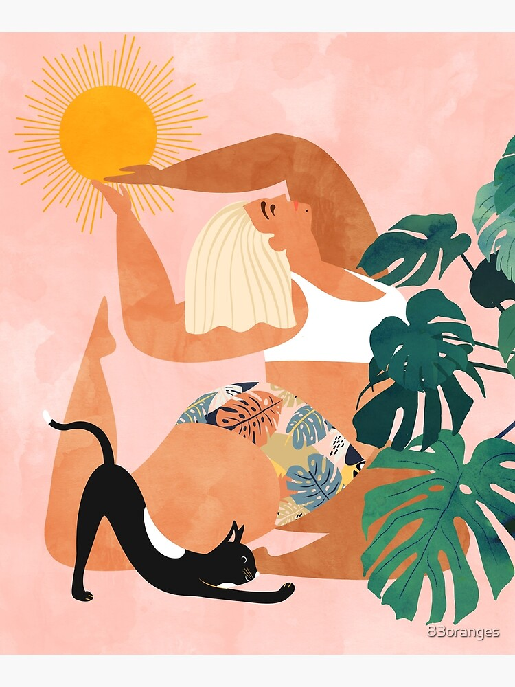 Tropical Yoga #illustration #tropical  by 83oranges