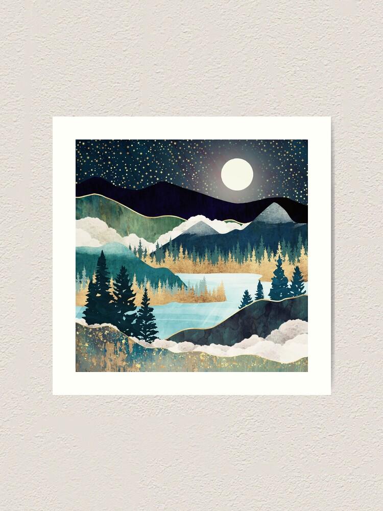 Alternate view of Star Lake Art Print
