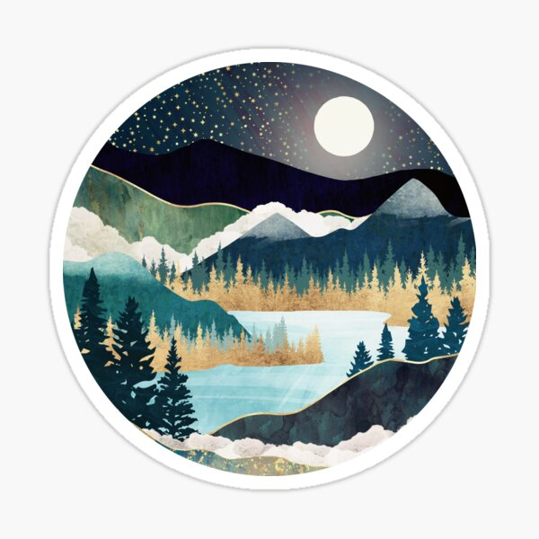 montagnes Sticker
