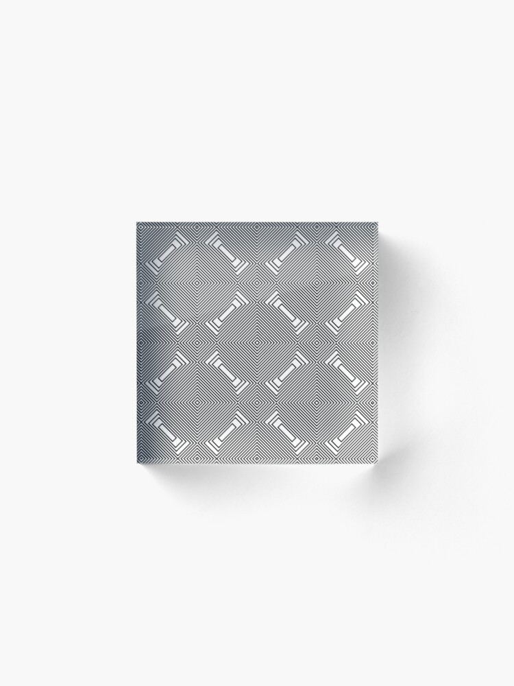 Alternate view of #Psychedelic #Hypnotic #Pattern, Visual #Illusion, Optical Art  Acrylic Block