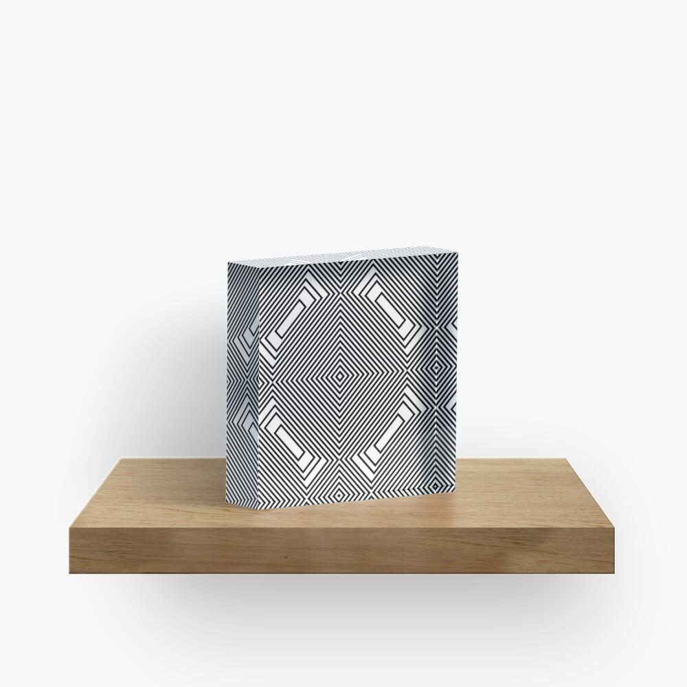 #Psychedelic #Hypnotic #Pattern, Visual #Illusion, Optical Art  Acrylic Block