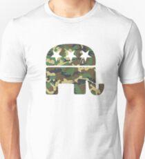 Camouflage Republican Elephant T-Shirt