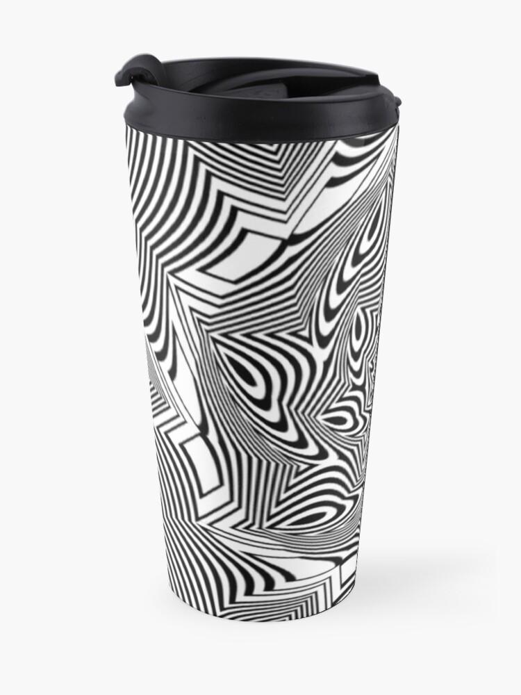 Alternate view of #Psychedelic #Hypnotic #Pattern, Visual #Illusion, Optical Art  Travel Mug