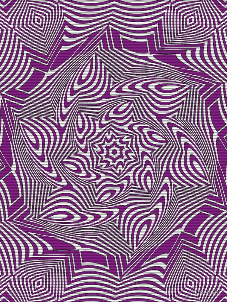 #Psychedelic #Hypnotic #Pattern, Visual #Illusion, Optical Art  by znamenski