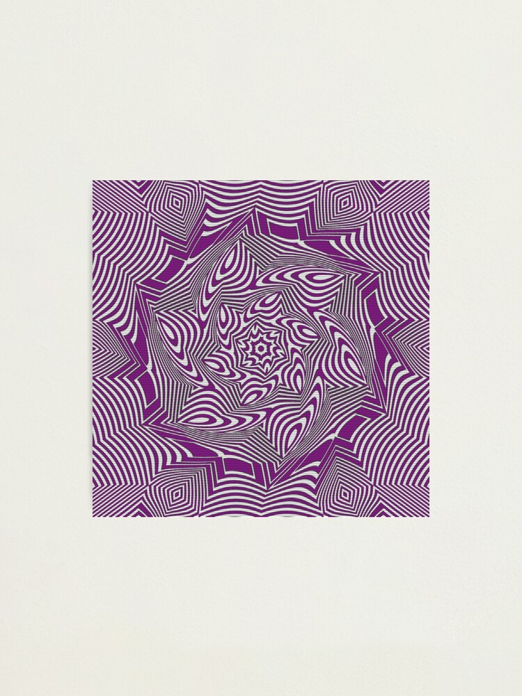 Alternate view of #Psychedelic #Hypnotic #Pattern, Visual #Illusion, Optical Art  Photographic Print