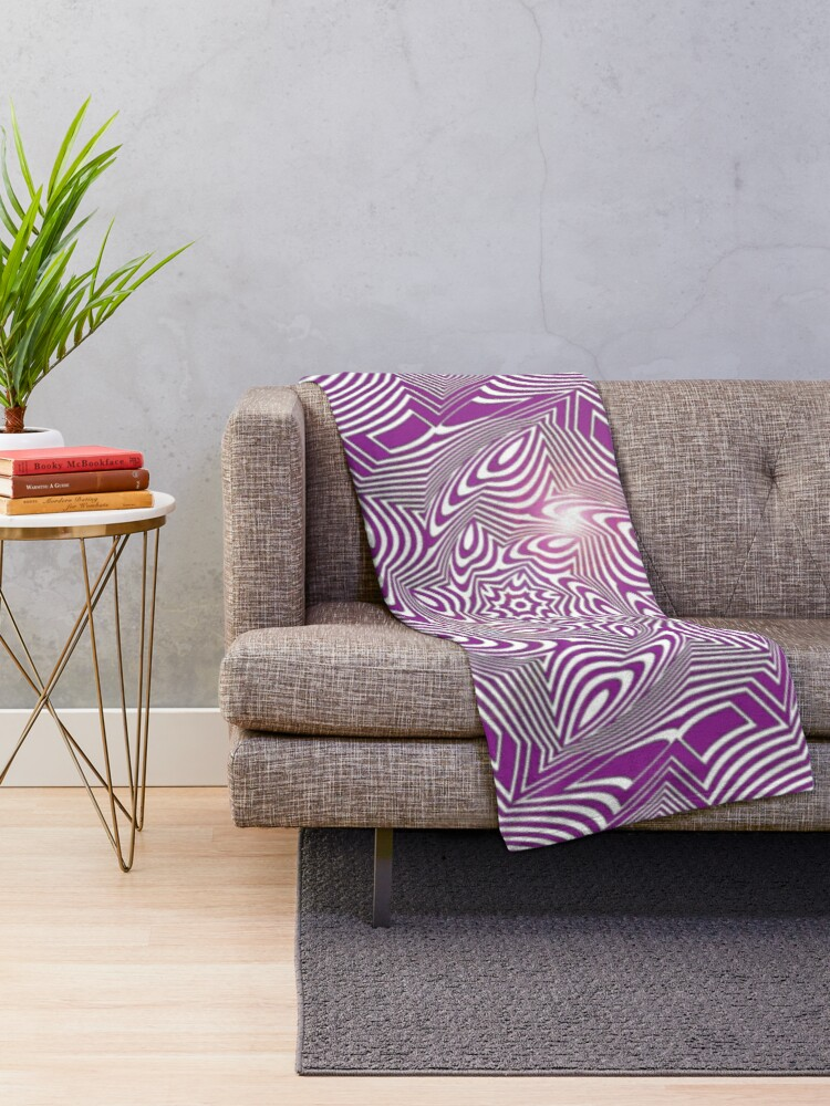 Alternate view of #Psychedelic #Hypnotic #Pattern, Visual #Illusion, Optical Art  Throw Blanket