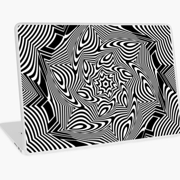#Psychedelic #Hypnotic #Pattern, Visual #Illusion, Optical Art  Laptop Skin