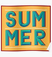Póster Letras de verano