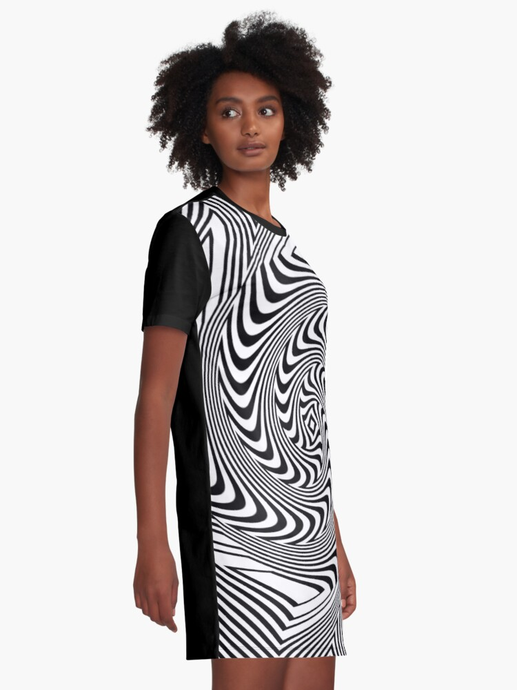 Alternate view of #Psychedelic #Hypnotic #Pattern, Visual #Illusion, Optical Art  Graphic T-Shirt Dress