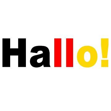 Hallo Do you speak german geek funny nerd by katabudi