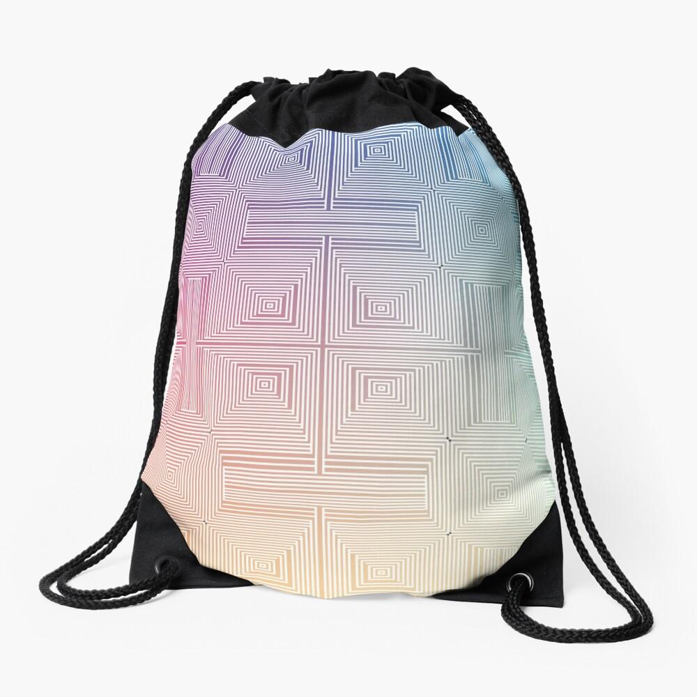 #Psychedelic #Hypnotic #Pattern, Visual #Illusion, Optical Art  Drawstring Bag