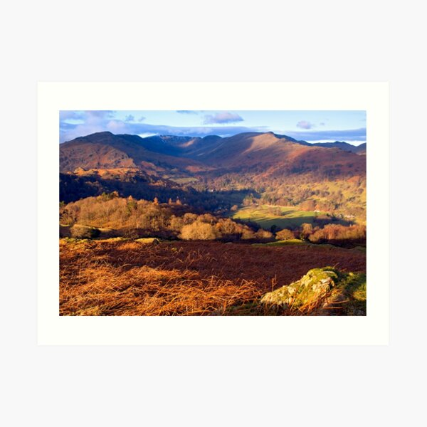 Fairfield from Loughrigg Fell - The Lake District Art Print