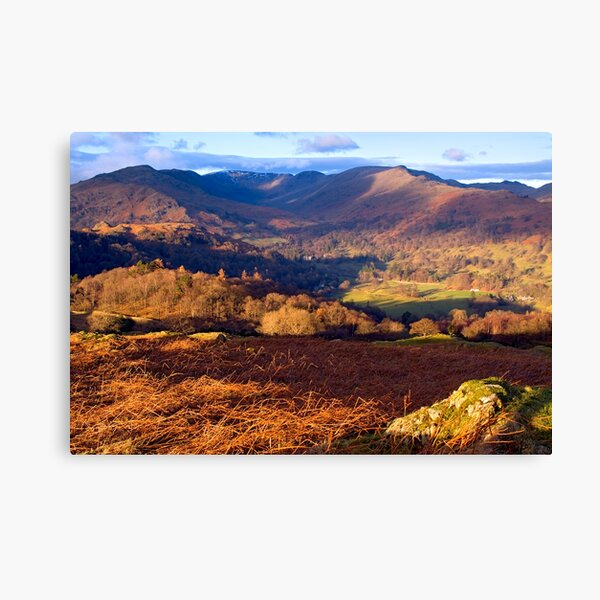 Fairfield from Loughrigg Fell - The Lake District Canvas Print