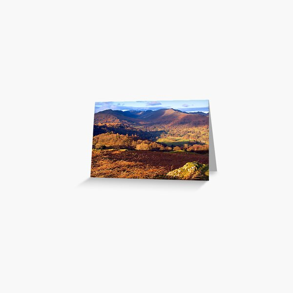 Fairfield from Loughrigg Fell - The Lake District Greeting Card