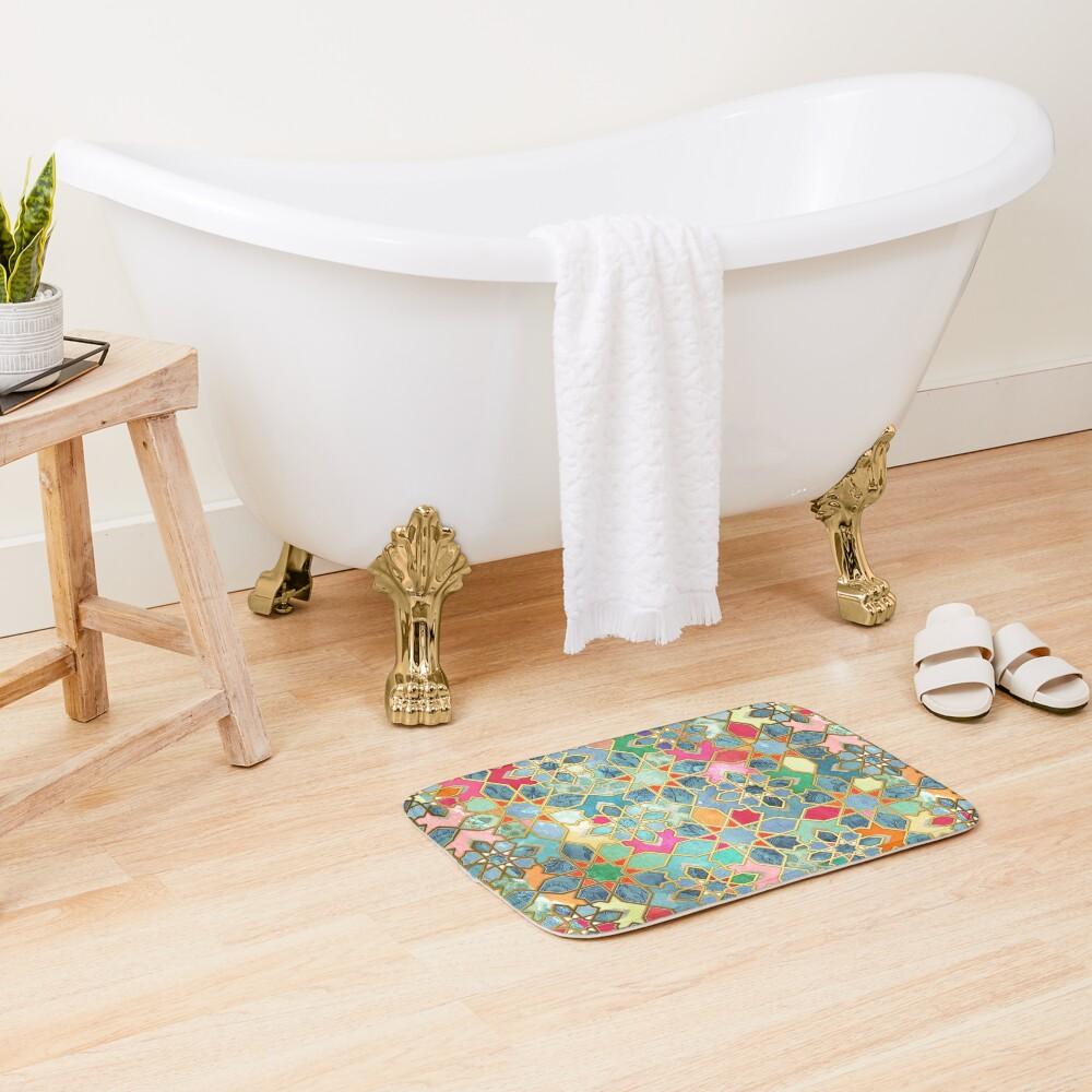 Gilt & Glory - Colorful Moroccan Mosaic Bath Mat
