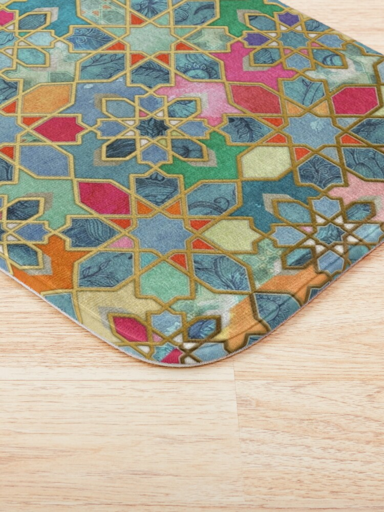Alternate view of Gilt & Glory - Colorful Moroccan Mosaic Bath Mat